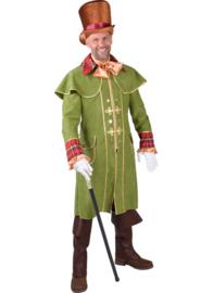 Koetsiers mantel heer groen luxe