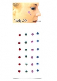 Gezichts en body jewels puntje