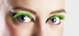 Wimpers neon groen