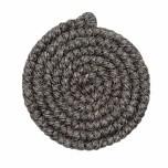 Wolcrepe donkergrijs 100cm