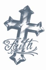 Prison Tattoos Faith cross
