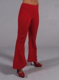Disco / 70`s wijde broek rood