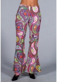 Flower power broek funky colours
