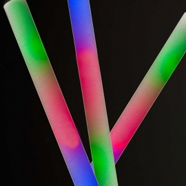 LED Foam sticks multicolor 10 stuks