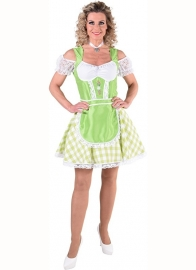 Tiroolse jurk bont fluor groen