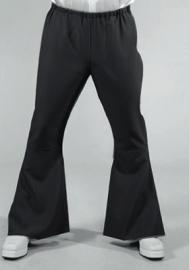Zwarte Disco wijde pijpen broek