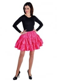 Plooi rok fluor pink modern