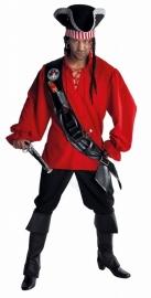 Stoer piraat rood Deluxe