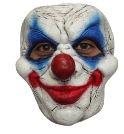 Latex masker clown creepy