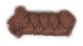 Wolcrepe kastanjebruin 10cm