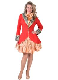 Carnavals damesjasje rood