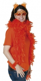 Tiara met kroon oranje