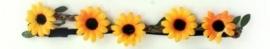 Hoofdbandje bloem geel