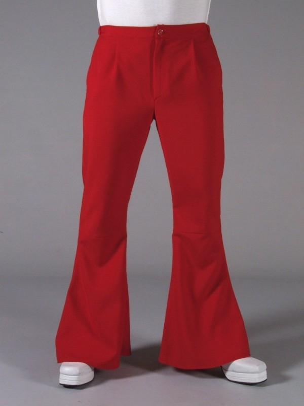 Disco / 70`s wijde pijpen broek rood