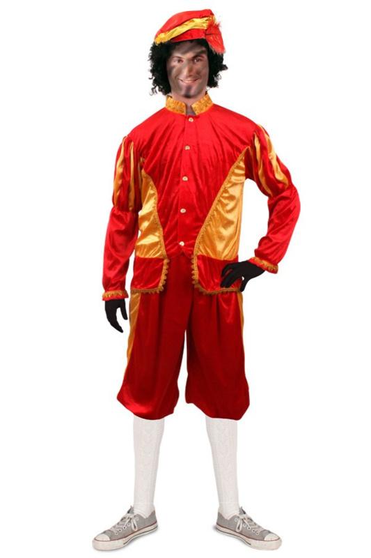 Pieten kostuum goud rood luxe