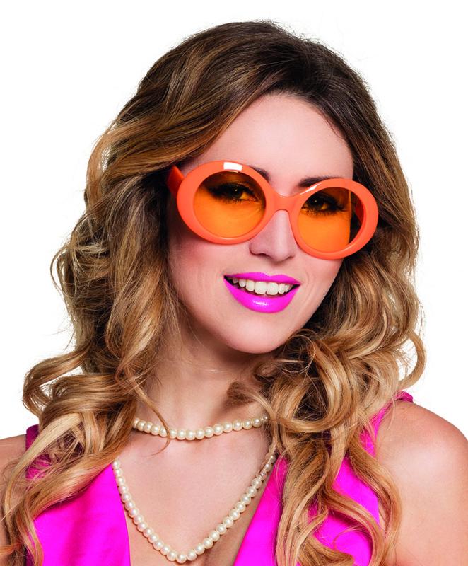Bril Jackie neon oranje