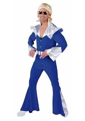 Disco kostuum Abba blauw