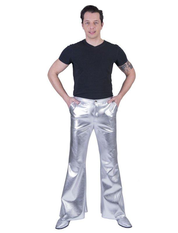 Zilveren broek disco fever