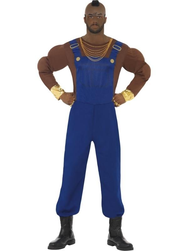Mr. T kostuum blauw