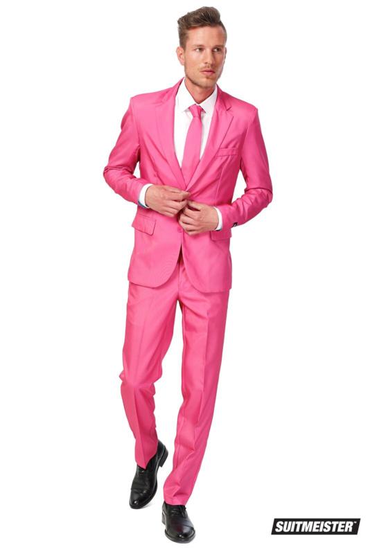 Solid pink suitmeister kostuum