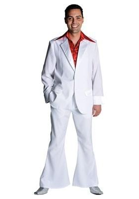 Disco / jaren 70 pak Wit