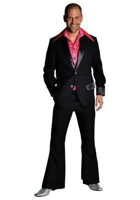 Disco / jaren 70 pak zwart
