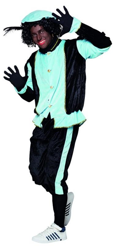 Pieten kostuum HQ turqoise