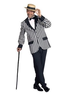 Wit / zwart streep Colbert