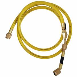 Mastercool standaard slang 90 cm geel met afsluiter