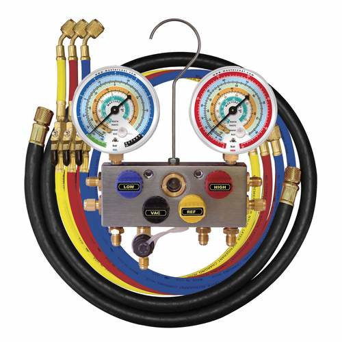 Mastercool 4-weg analoge manometer set