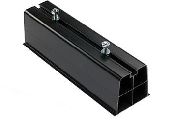 Vloersteun / montagebalk opstelprofiel kunststof 450 x 110 x 90 mm zwart