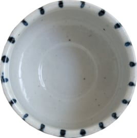 Matcha kom  met Streep patroon Ø11 cm | H6,5 cm
