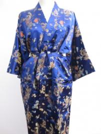 Kimono Lang Dragon/Phoenix  Donker blauw