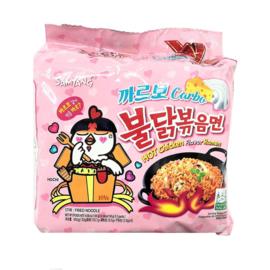 Fire Noodle coréen (Carbo)  5 sachettes Nouilles ramen saveur poulet piquante 140g