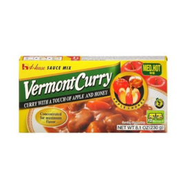 Vermont Curry Mid Hot  Apple and Honey 230g