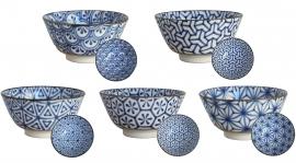Old Nippon Blue Pattern flower Ø18 cm | H9 cm