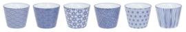 Nippon Blue Cup 8x3 x 6.5 cm 180ml (6 stuks)