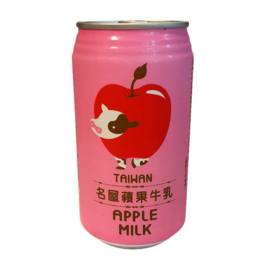 FH Apple Milk Drink 340ml TIN