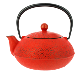 Wave Iwachu Teapot 600 ml Red