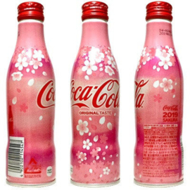 3x Coca-Cola Original Taste Sakura Bottle  250ml