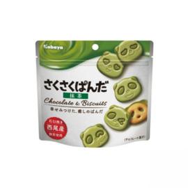 Kabaya Saku Saku Panda Cookiebag Matcha 47g