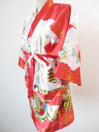 Japanse Kimono Kort Rood