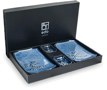 Edo Hana Blue Japan Sushi Set  24x14cm | H3 cm