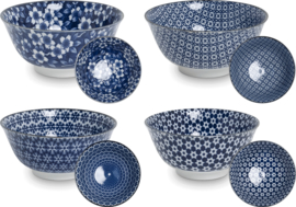 Bowls Blue pattern, mix  Ø15 cm | H7 cm | 4 mix