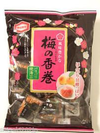 Kameda Ume Norimaki Senbei Rijst cracker Plum