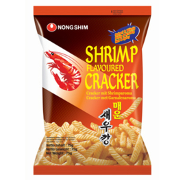 Korean Shrimp Flavored Crackers Hot and Spicy 75g