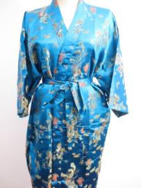 Kimono Lang Dragon/Phoenix Turquoise