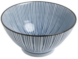 Iron blue Japan strepen  Ø18 cm | H9 cm