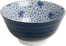 Ribbels Bloemen Japans blauw Ø13 cm