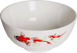 Bowl of 17,5 cm red koi